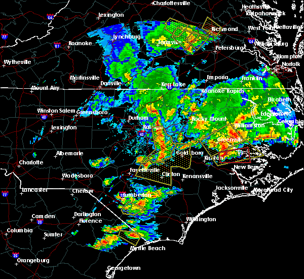 Radar Image for Severe Thunderstorms near Clayton, NC at 5/31/2019 8:42 PM EDT