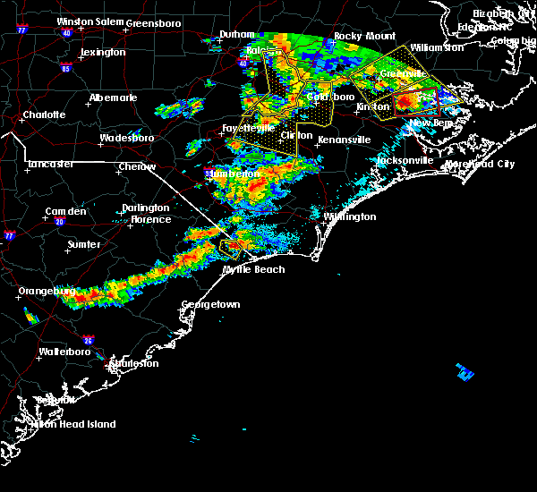 Radar Image for Severe Thunderstorms near Ocean Isle Beach, NC at 5/31/2019 8:59 PM EDT