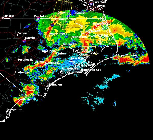 Radar Image for Severe Thunderstorms near Hobucken, NC at 5/31/2019 9:45 PM EDT