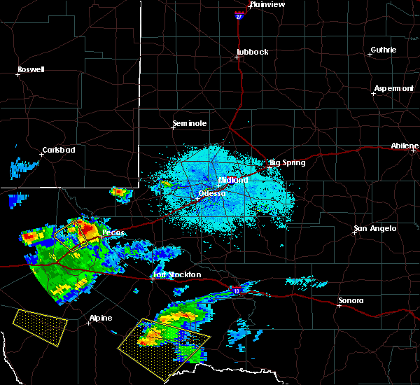 Radar Image for Severe Thunderstorms near Mentone, TX at 5/31/2019 9:25 PM CDT