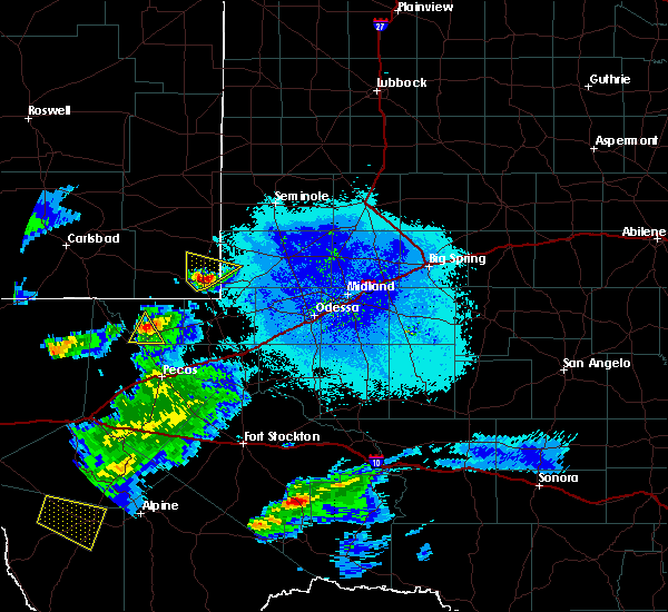 Radar Image for Severe Thunderstorms near Mentone, TX at 5/31/2019 10:09 PM CDT