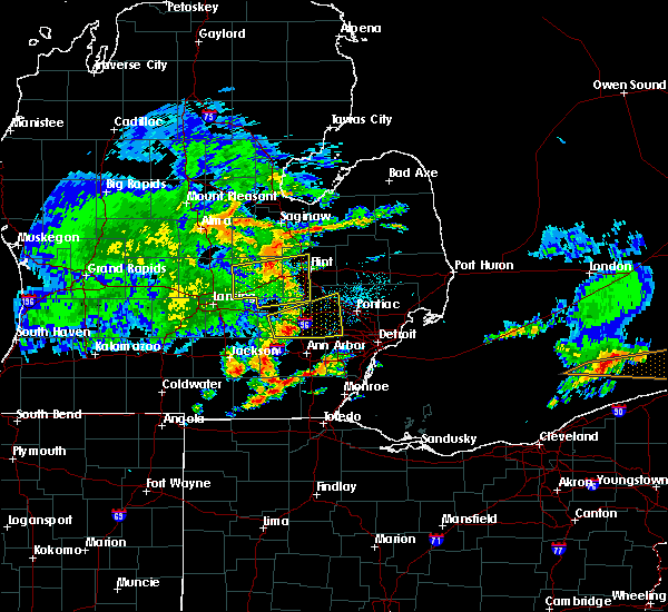 Radar Image for Severe Thunderstorms near Dundee, MI at 6/1/2019 1:53 PM EDT