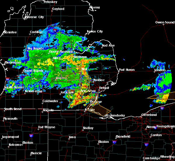 Radar Image for Severe Thunderstorms near Dundee, MI at 6/1/2019 2:14 PM EDT