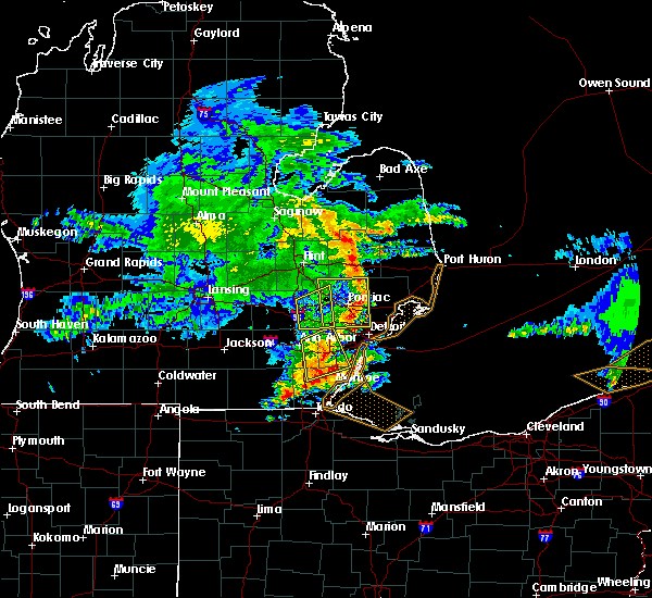 Radar Image for Severe Thunderstorms near Dundee, MI at 6/1/2019 2:35 PM EDT