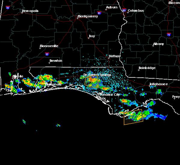 Radar Image for Severe Thunderstorms near Ponce de Leon, FL at 6/1/2019 1:45 PM CDT
