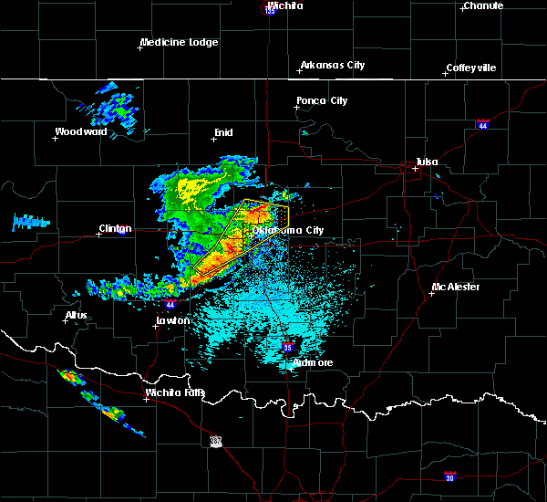 Radar Image for Severe Thunderstorms near Jones, OK at 6/1/2019 1:51 PM CDT