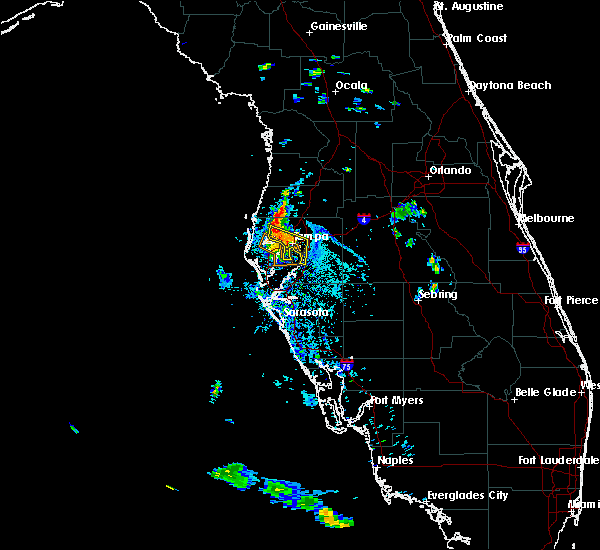 Radar Image for Severe Thunderstorms near Oldsmar, FL at 6/15/2015 6:27 PM EDT