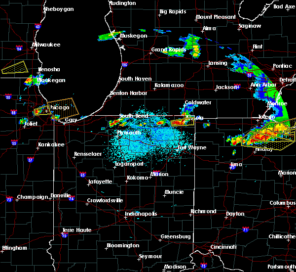 Radar Image for Severe Thunderstorms near Lakeville, IN at 6/1/2019 4:38 PM EDT