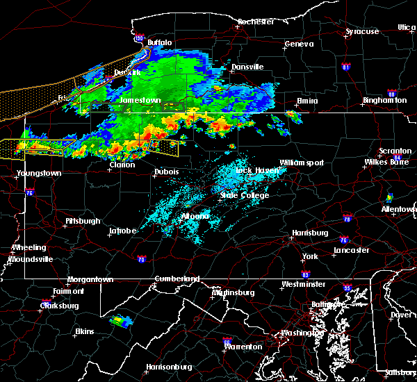 Radar Image for Severe Thunderstorms near St. Marys, PA at 6/1/2019 5:07 PM EDT