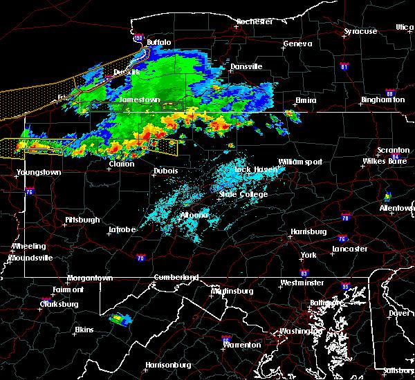 Radar Image for Severe Thunderstorms near Johnsonburg, PA at 6/1/2019 5:07 PM EDT