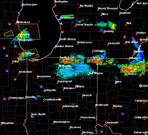 Radar Image for Severe Thunderstorms near Dunlap, IN at 6/1/2019 5:09 PM EDT