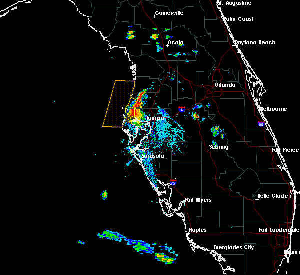 Radar Image for Severe Thunderstorms near Jasmine Estates, FL at 6/15/2015 6:42 PM EDT