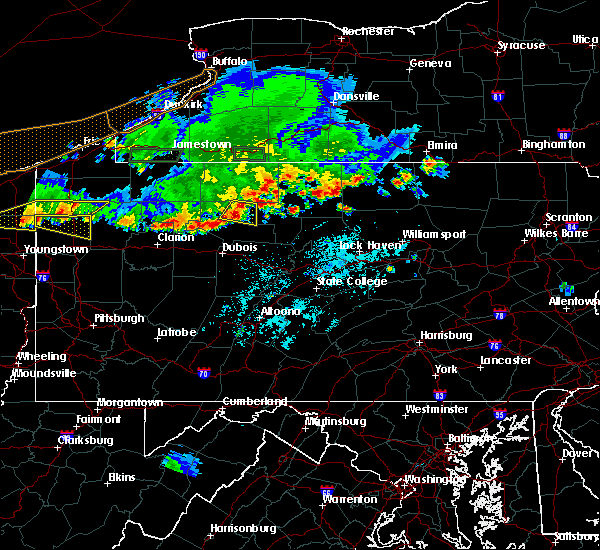 Radar Image for Severe Thunderstorms near St. Marys, PA at 6/1/2019 5:24 PM EDT