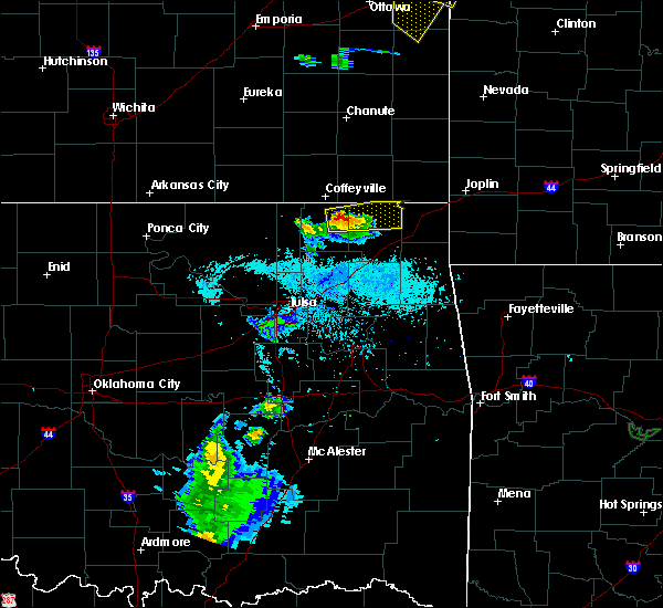 Radar Image for Severe Thunderstorms near Welch, OK at 6/1/2019 4:26 PM CDT