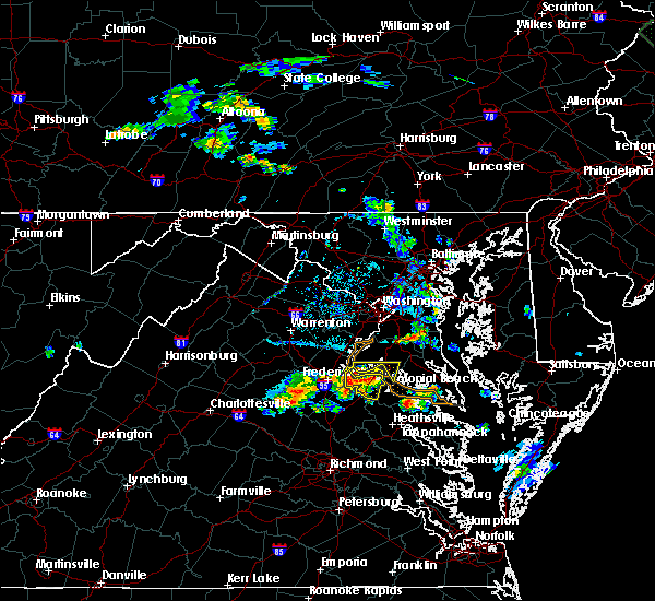Radar Image for Severe Thunderstorms near King George, VA at 6/15/2015 6:50 PM EDT