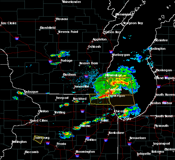 Radar Image for Severe Thunderstorms near Zion, IL at 6/1/2019 4:52 PM CDT