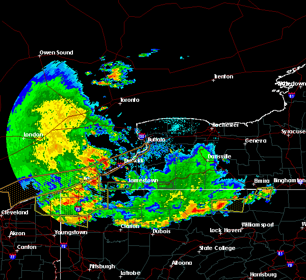 Radar Image for Severe Thunderstorms near Sinclairville, NY at 6/1/2019 5:59 PM EDT