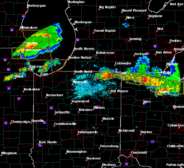 Radar Image for Severe Thunderstorms near Wolcottville, IN at 6/1/2019 6:02 PM EDT