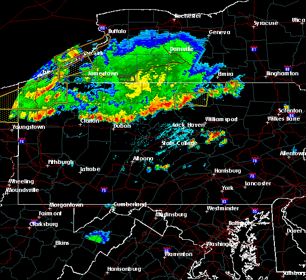 Radar Image for Severe Thunderstorms near Arnot, PA at 6/1/2019 6:06 PM EDT