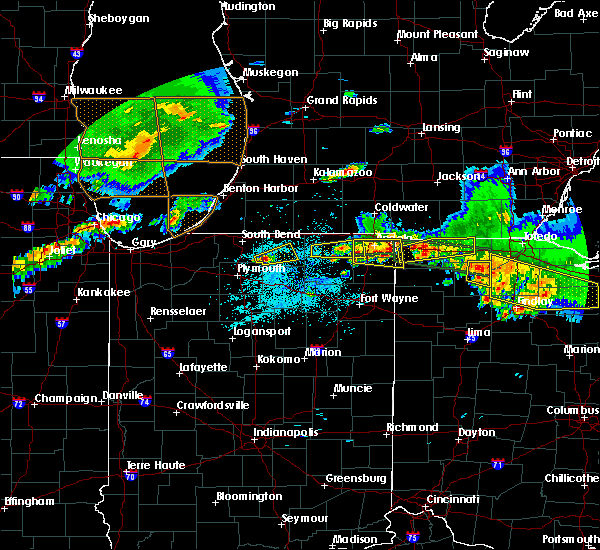 Radar Image for Severe Thunderstorms near Dunlap, IN at 6/1/2019 6:22 PM EDT