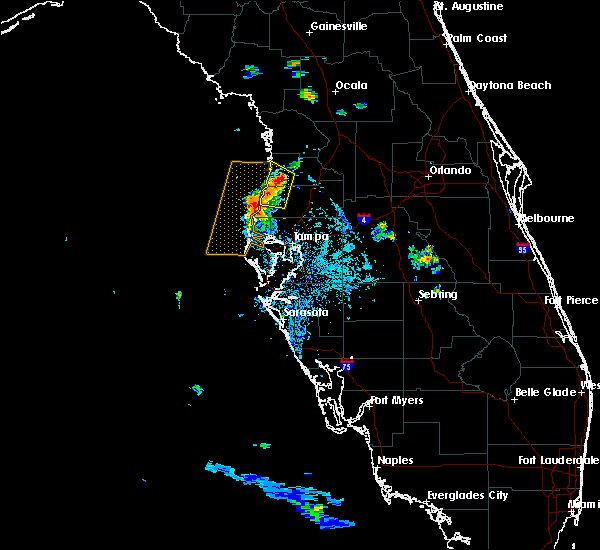 Radar Image for Severe Thunderstorms near South Brooksville, FL at 6/15/2015 7:12 PM EDT
