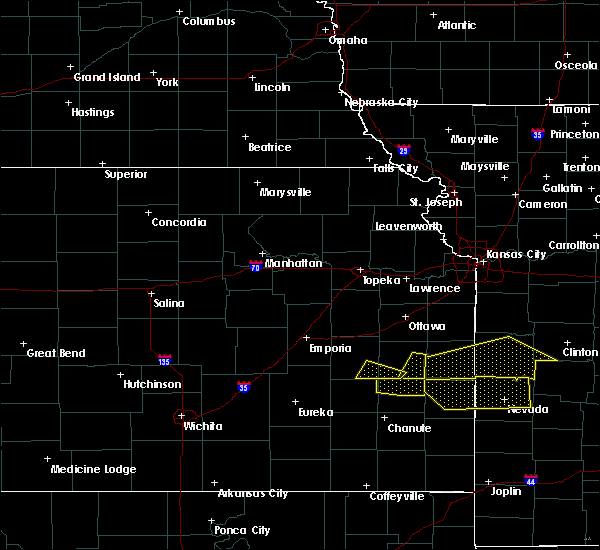 Radar Image for Severe Thunderstorms near Colony, KS at 6/1/2019 5:36 PM CDT