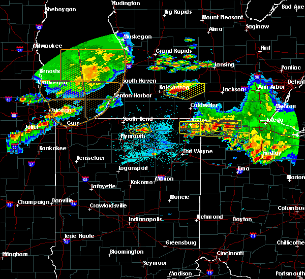 Radar Image for Severe Thunderstorms near Waterloo, IN at 6/1/2019 6:46 PM EDT