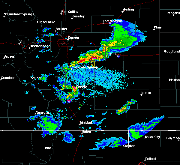 Radar Image for Severe Thunderstorms near Ramah, CO at 6/1/2019 4:59 PM MDT