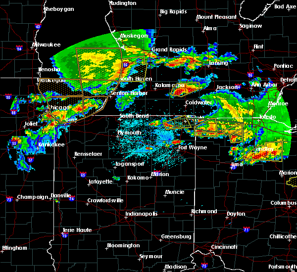 Radar Image for Severe Thunderstorms near Napoleon, OH at 6/1/2019 7:26 PM EDT