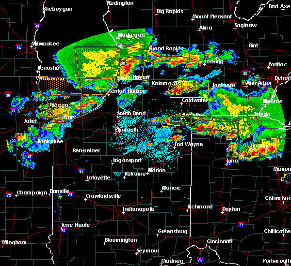 Radar Image for Severe Thunderstorms near Ney, OH at 6/1/2019 7:31 PM EDT