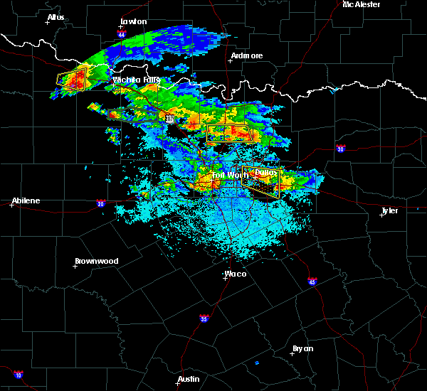 Radar Image for Severe Thunderstorms near Irving, TX at 6/1/2019 6:32 PM CDT