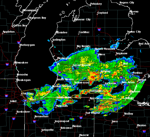 Radar Image for Severe Thunderstorms near Dowling, MI at 6/1/2019 8:40 PM EDT