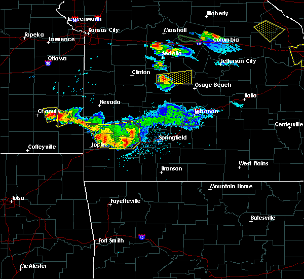 Radar Image for Severe Thunderstorms near La Russell, MO at 6/1/2019 7:50 PM CDT
