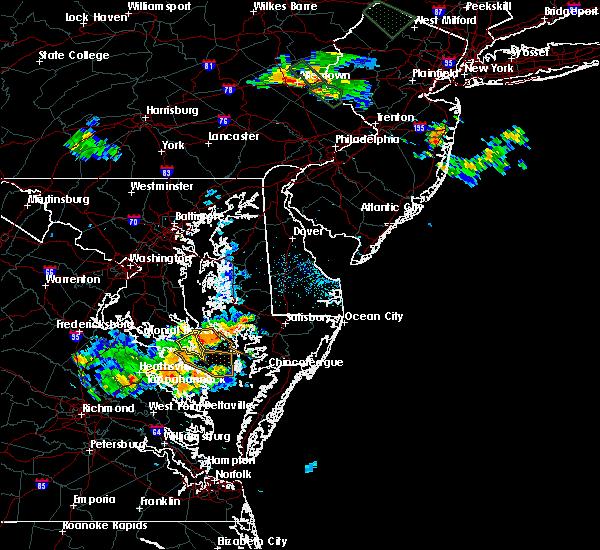 Radar Image for Severe Thunderstorms near Lexington Park, MD at 6/15/2015 8:23 PM EDT