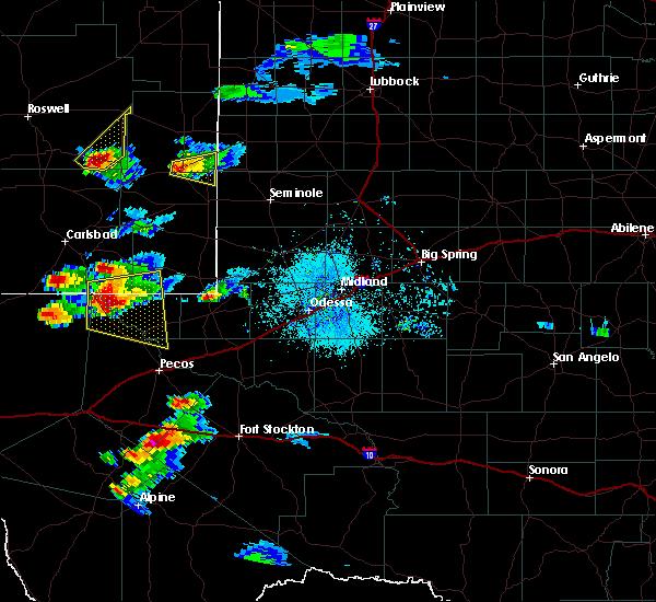 Radar Image for Severe Thunderstorms near Mentone, TX at 6/1/2019 8:48 PM CDT