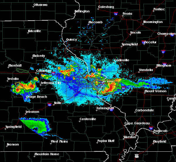 Radar Image for Severe Thunderstorms near Waterloo, IL at 6/1/2019 9:07 PM CDT