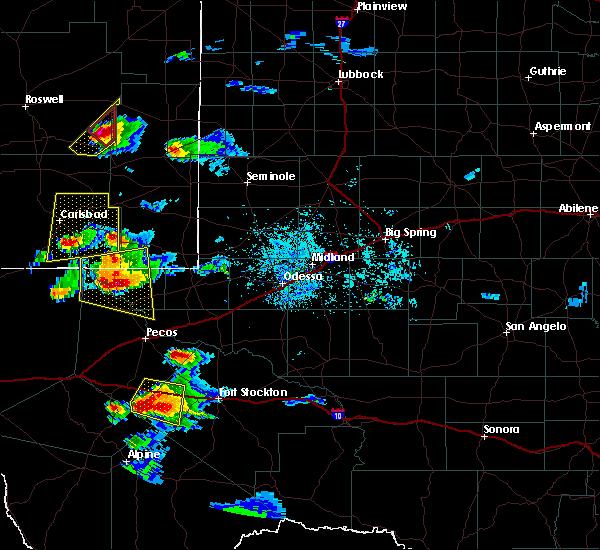 Radar Image for Severe Thunderstorms near Mentone, TX at 6/1/2019 9:08 PM CDT