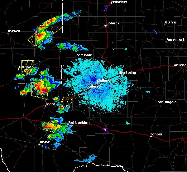 Radar Image for Severe Thunderstorms near Mentone, TX at 6/1/2019 9:31 PM CDT
