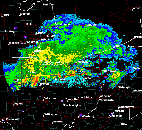 Radar Image for Severe Thunderstorms near Canal Fulton, OH at 6/2/2019 12:35 AM EDT