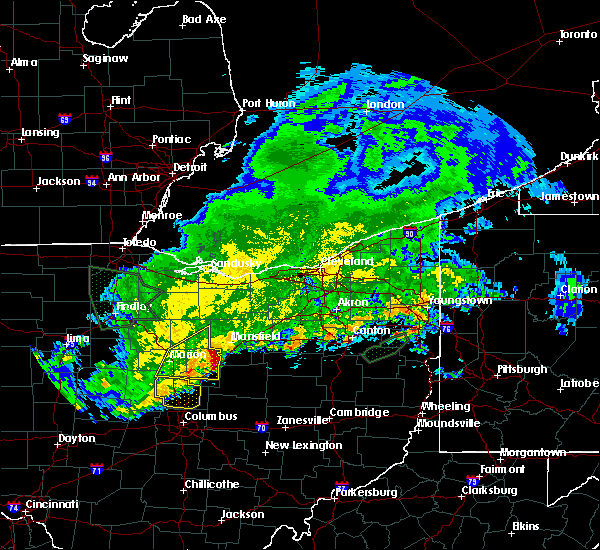 Radar Image for Severe Thunderstorms near Lucas, OH at 6/2/2019 1:47 AM EDT