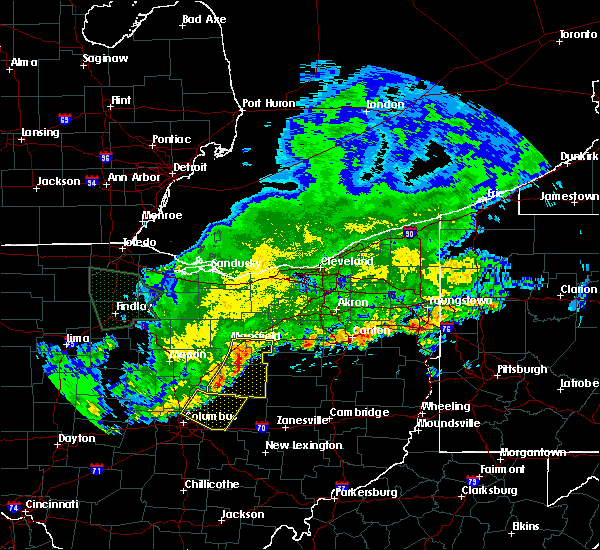 Radar Image for Severe Thunderstorms near Mansfield, OH at 6/2/2019 2:08 AM EDT