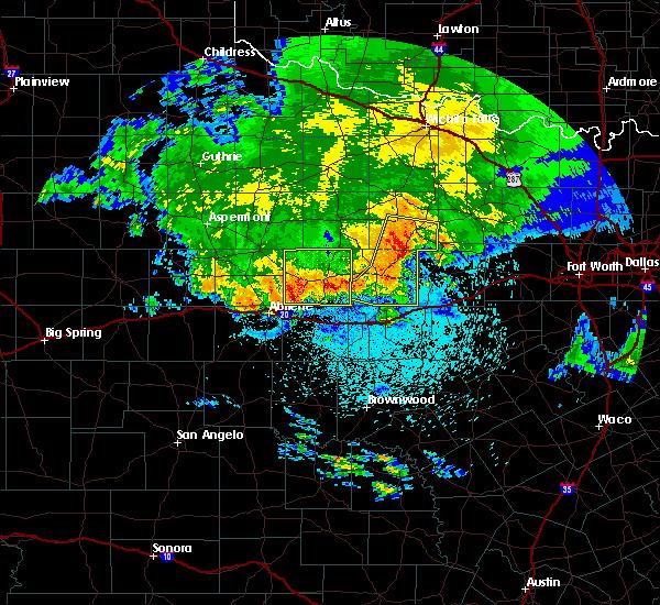Radar Image for Severe Thunderstorms near Graham, TX at 6/2/2019 3:39 AM CDT
