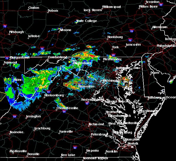 Radar Image for Severe Thunderstorms near Marshall, VA at 6/2/2019 4:39 PM EDT