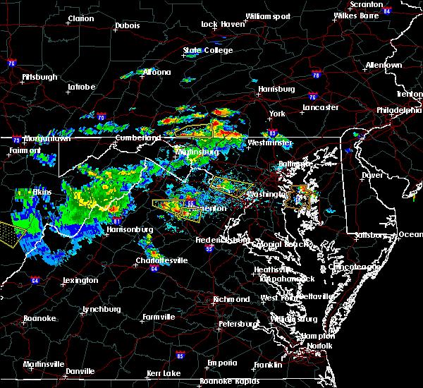 Radar Image for Severe Thunderstorms near Marshall, VA at 6/2/2019 4:50 PM EDT