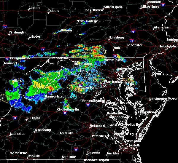 Radar Image for Severe Thunderstorms near Marshall, VA at 6/2/2019 5:00 PM EDT