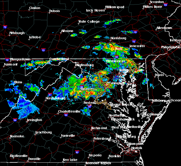 Radar Image for Severe Thunderstorms near South Kensington, MD at 6/2/2019 5:46 PM EDT