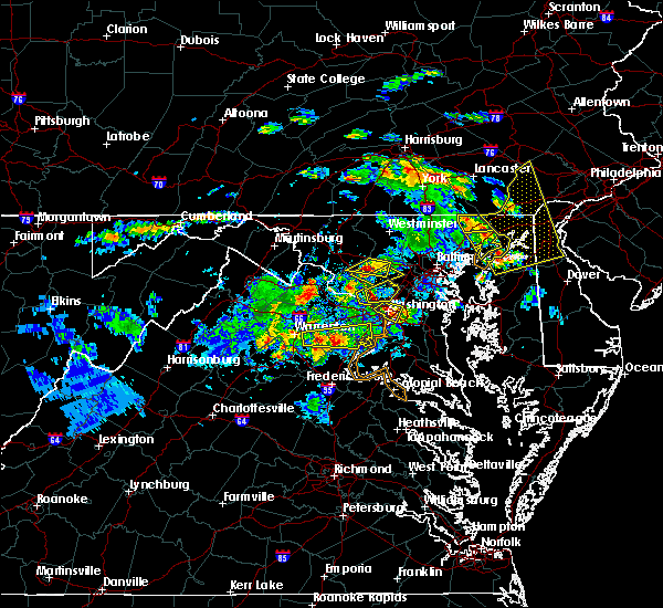 Radar Image for Severe Thunderstorms near Montgomery Village, MD at 6/2/2019 5:49 PM EDT