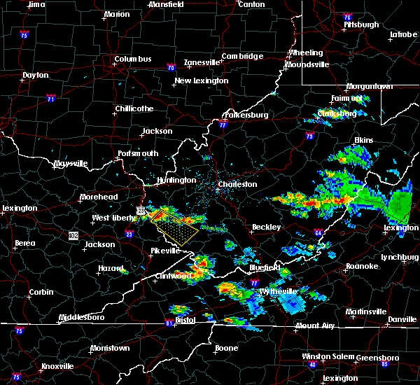 Radar Image for Severe Thunderstorms near Crum, WV at 6/2/2019 6:21 PM EDT