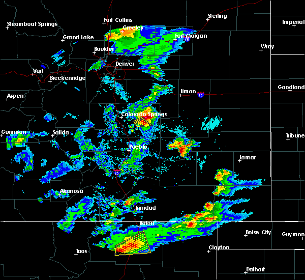 Radar Image for Severe Thunderstorms near Ellicott, CO at 6/2/2019 4:28 PM MDT