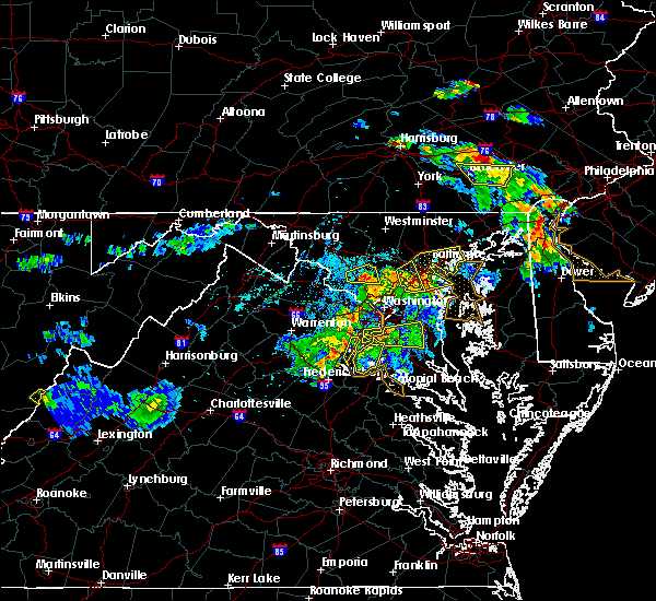 Radar Image for Severe Thunderstorms near Parkville, MD at 6/2/2019 6:34 PM EDT